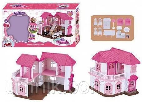 """Будиночок з меблями Anbeiya Family, флоксовые тварини"""", 2 поверхи, 34*34*16.5 см, 1805, фото 2"""