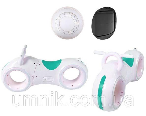 Беговел детский TRON GS-0020, White/Green, Bluetooth, LED-подсветка, фото 2