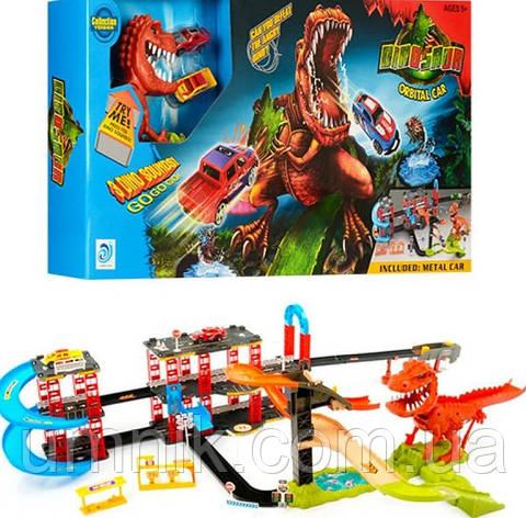 """Ігровий трек для машинок """"Динозавр Рекс у місті"""", звукові ефекти, 125*75*25 см, 8899-92, фото 2"""