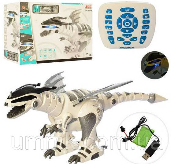 Радиоуправляемый интерактивный Робот-динозавр, световые и звуковые эффекты, 67 см, 8008