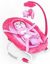 Детский шезлонг-качалка, с подвесками, Tilly, BT-BB-0002 Pink