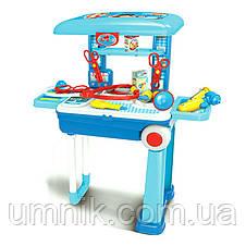 Детский игровой набор доктора   со столиком, в чемодане, медицинские инструменты, 54 х 63 х 24,5 см 008-925, фото 3