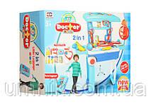 Дитячий ігровий набір доктора зі столиком, у валізі, медичні інструменти, 54 х 63 х 24,5 см 008-925, фото 2