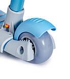 Дитячий триколісний самокат беговел з обмежувачем і батьківською ручкою Scooter 5 в 1 Синій з бортиком, фото 6