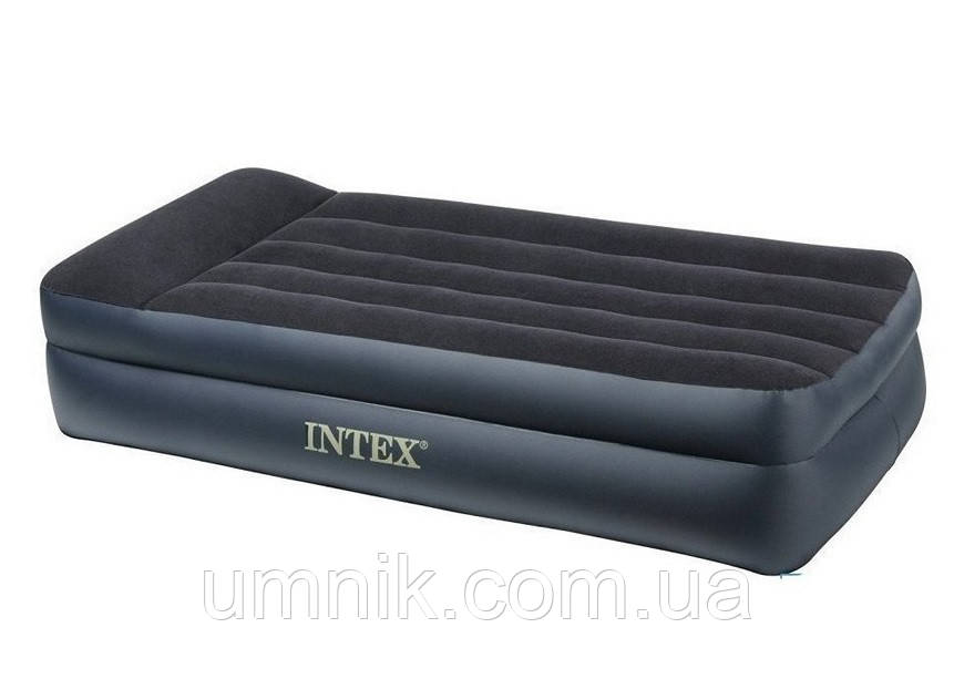 Надувная кровать Intex со встроенным насосом, 64122, 99*191*42см