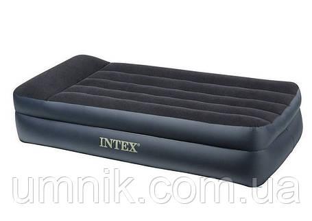 Надувная кровать Intex со встроенным насосом, 64122, 99*191*42см, фото 2