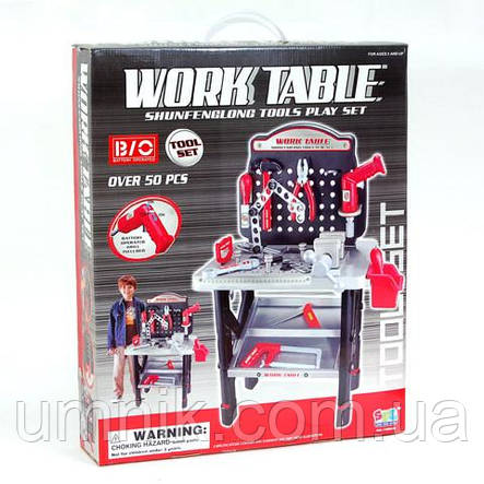 Ігровий набір інструментів з верстатом, майстерня, Work Table 58 х 68 х 33 см, 16554, фото 2