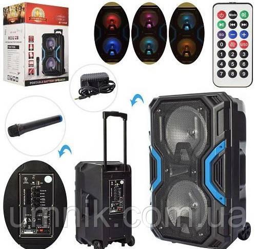 Портативная аккумуляторная Bluetooth колонка с микрофоном, 2 динамика, 35*28*54 см,LT-528A