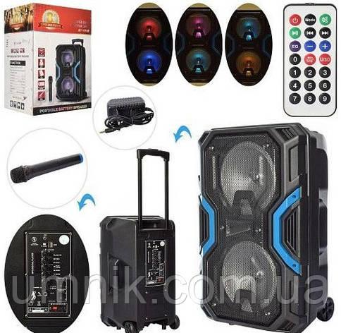 Портативная аккумуляторная Bluetooth колонка с микрофоном, 2 динамика, 35*28*54 см,LT-528A, фото 2