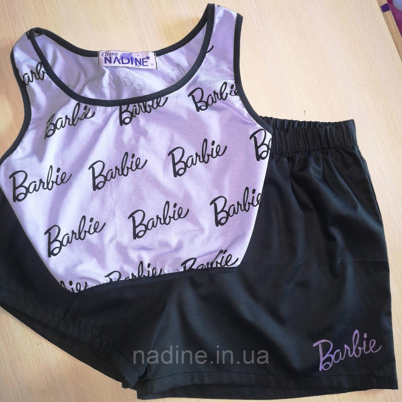 Піжама Barbie Топ і шорти Eirena Nadine (752-64) на зріст 164/42 чорний