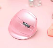 Бездротова вертикальна миша Delux M618 Mini GX / Рожевий колір