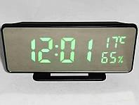 Часы с будильником, градусником и гигрометром настольные VST 888Y, фото 1