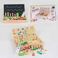 Двостороння дерев'яна дошка Математика 39305 (40) в коробці
