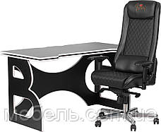 Комп'ютерні столи геймерська станція Barsky Homework Game Black/White HG-06/GB-01, фото 3