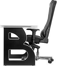 Комп'ютерні столи геймерська станція Barsky Homework Game Black/White HG-06/GB-01, фото 2