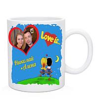 Чашка Лав Из с Вашими именами и фото
