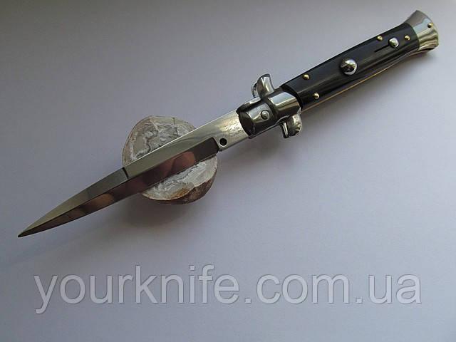 Нож Итальянский автоматический стилет Frank Beltrame 23см рог буйвола bayonet