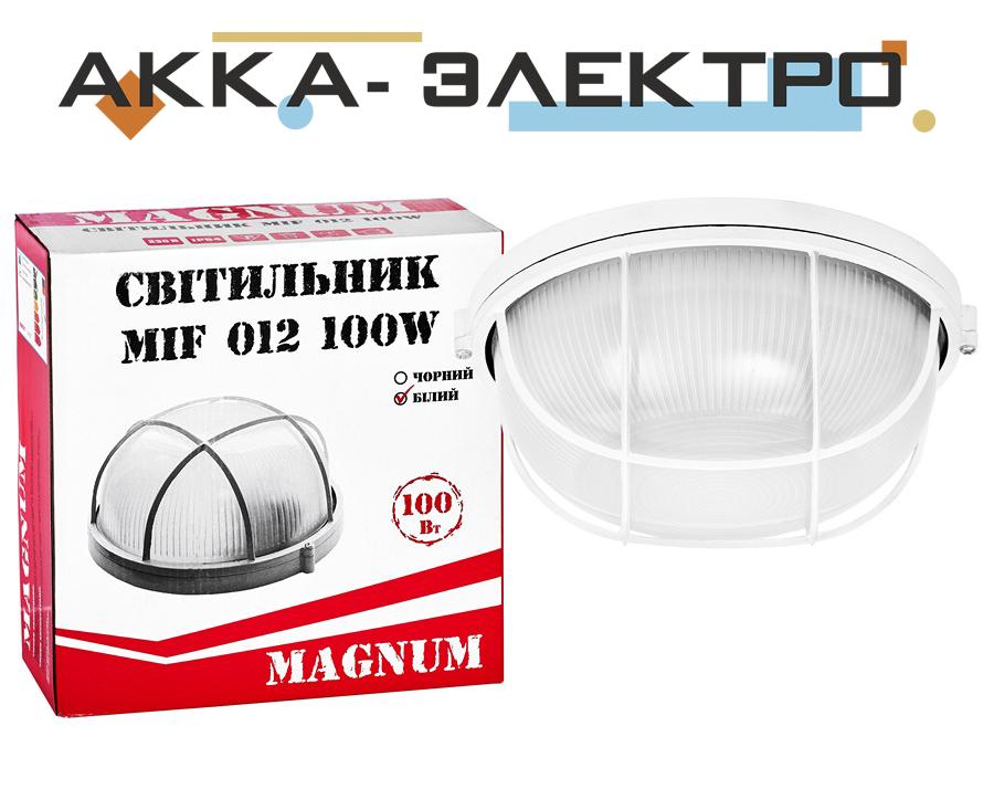 Світильник MAGNUM MIF012 10W E27 коло білий з реш.