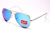 Очки солнцезащитные Ray Ban Авиатор капли стекло, фото 1