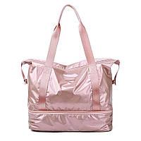 Спортивная сумка женская для фитнеса дорожная с отделением для обуви (модель 311)