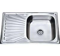 Врізна кухонна мийка з нержавіючої сталі PLATINUM 7848 Полірування 0.8 мм.