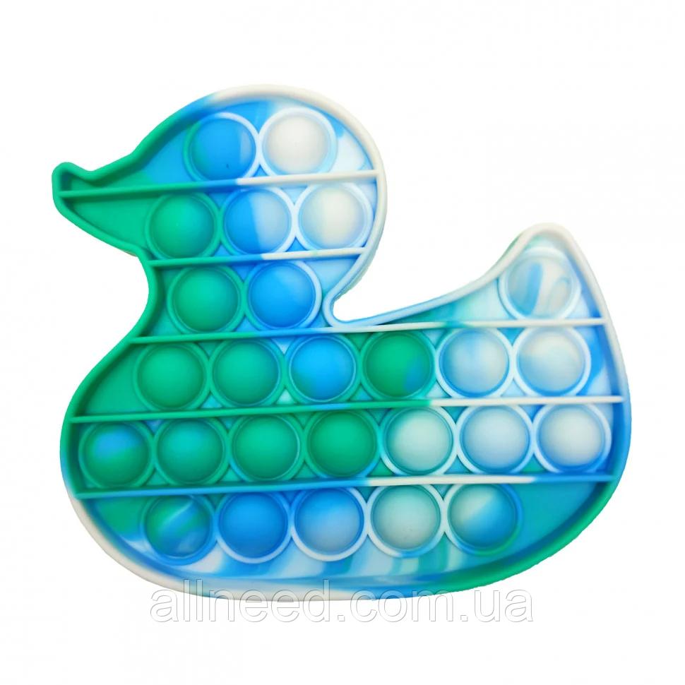 """Іграшка-антистрес """"POP-IT"""" PPT-D(Blue-Green) Качечка Сині-Зелений"""