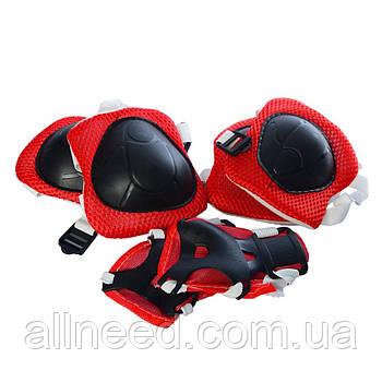 Защита MS 0336-2 для коленей, локтей, запястий (Красный)