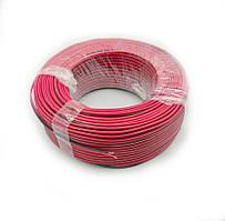 Кабель живлення 2жилы 10х0,20мм CU (0,32 мм. кв.), червоно-чорний, 100м