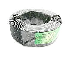 Кабель живлення 2жилы х0,35мм.кв., CCA, чорний