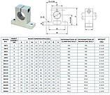 Кінцева опора SK10 для циліндричних валів 10 мм (Т-подібна), фото 2