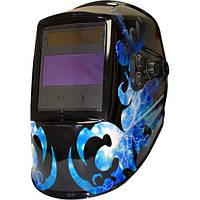 Маска зварщика хамелеон MegaTec КОМАНДОР 423R (blue flash) 1/10000 с DIN5-13 щиток зварника хамелеон зварювальний