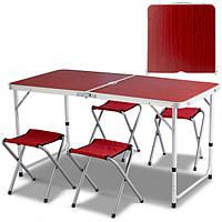 Стол раскладной для пикника с 4 стульями стіл для пікніка