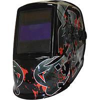 Маска сварщика хамелеон MegaTec КОМАНДОР 423R (red flash) 1/10000 с, DIN5-13 щиток сварщика хамелеон сварочный