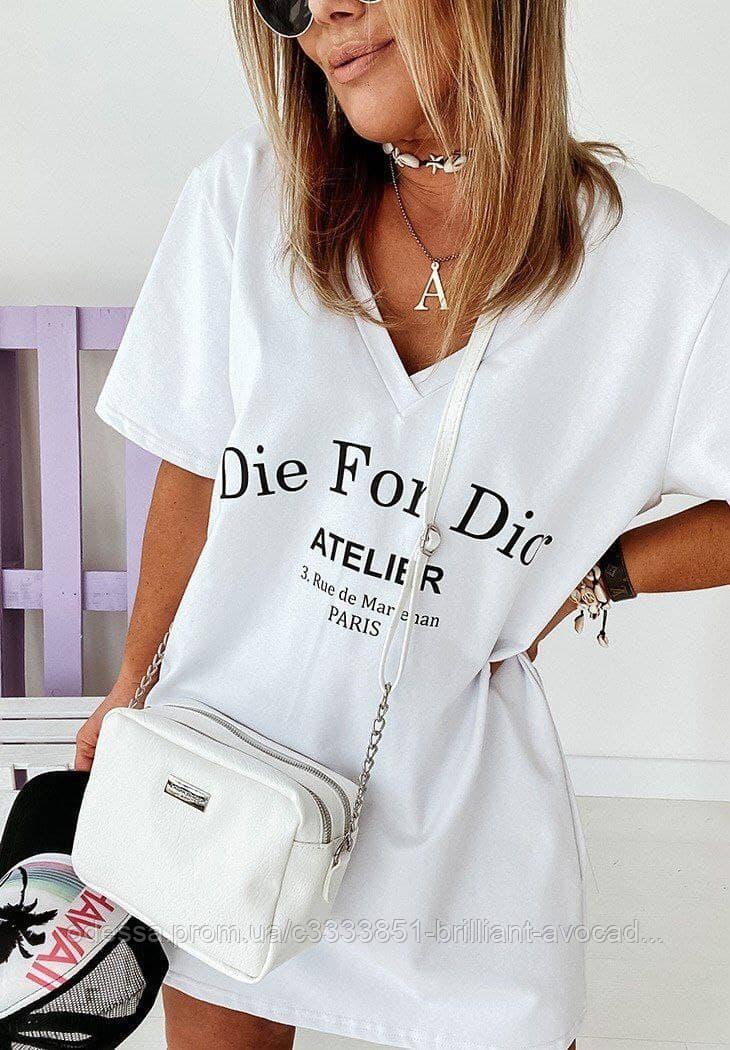 Женская модная свободная базовая футболка
