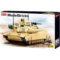 """Конструктор Sluban M38-B0892 """"Основной боевой танк США Abrams M1A2"""", 781 дет"""