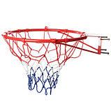 Баскетбольне кільце 45см M 2654 з м'ячем і насосом, фото 3
