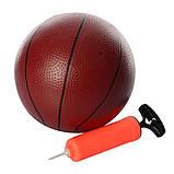 Баскетбольне кільце 45см M 2654 з м'ячем і насосом, фото 4