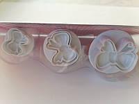 Плунжер для мастики бантик Набор из 3 оттисков