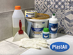 Жидкий акрил Plastall Premium 1.7 м с набором для реставрации ванн Оригинал