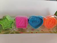 Плунжер для мастики разные Набор из 4 оттисков от 3,5 до 4,5 см