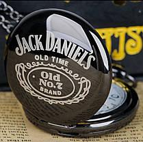Карманные чёрные мужские часы на цепочке Jack Daniel's, фото 3