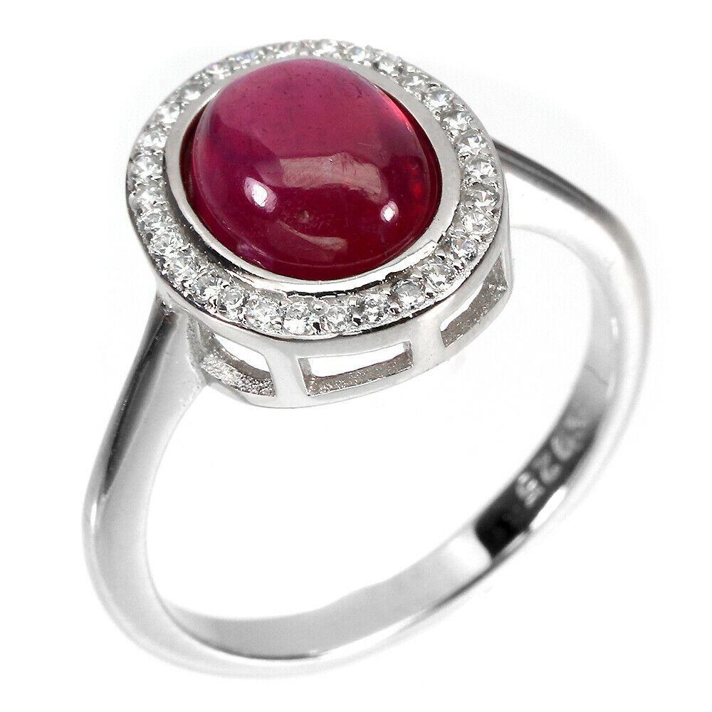 Серебряное кольцо с рубином, 1711КР
