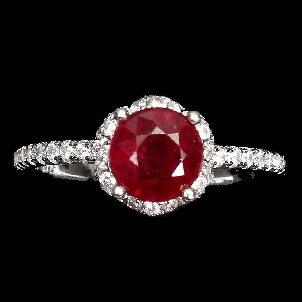 Серебряное кольцо с рубином, 1704КР