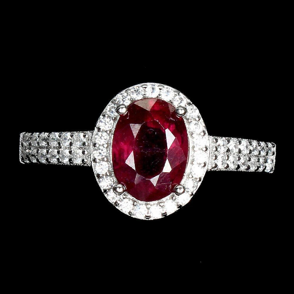 Серебряное кольцо с рубином, 1705КР