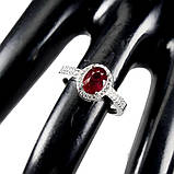 Серебряное кольцо с рубином, 1705КР, фото 3