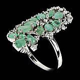 Серебряное кольцо с изумрудом, 1710КИ, фото 2