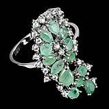 Серебряное кольцо с изумрудом, 1710КИ, фото 3