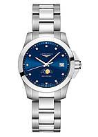Женские Часы LONGINES L3.381.4.97.6 Conquest 34mm Quartz  Diamond Blue- Dail CLASSIC