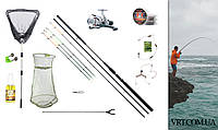 Рыболовный набор: Фидер 3.9м. полный комплект, готов к использованию 0012839