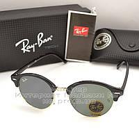 Женские солнцезащитные очки Ray Ban Clubround Classic RB 4246 901 линзы стекло RB4246 Брендовые Рей Бан копия